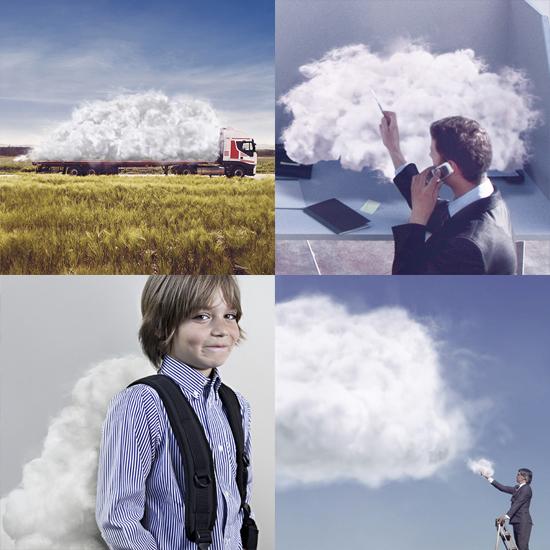 Post produzione campagna stampa Telecom cloud