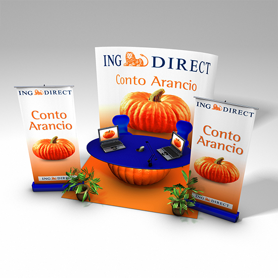 Ing Direct, previsualizzazione 3D stand