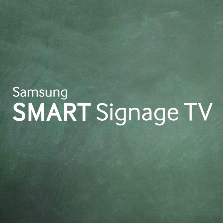 Samsung Smart Signage TV - Infographic