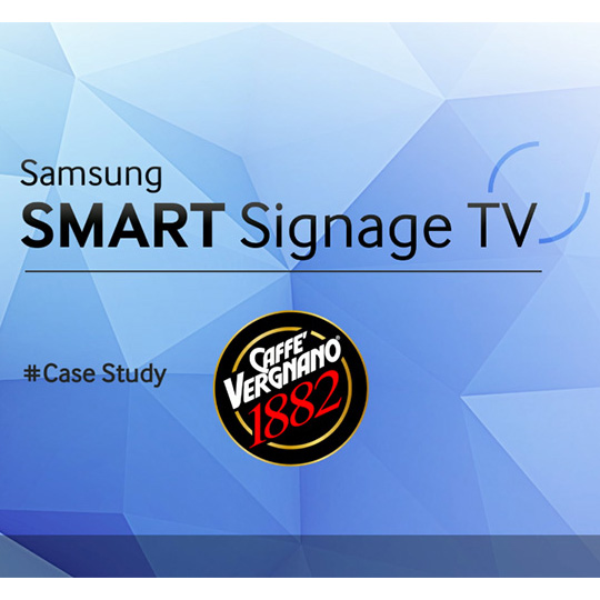 Samsung SMART SIGNAGE TV - Caffè Vergnano